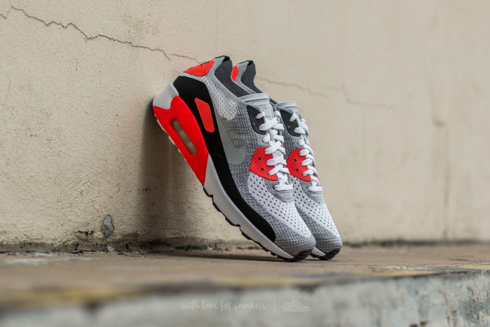 timeless design 4c103 fe372 Lyst - Nike Air Max 90 Ultra 2.0 Flyknit White  Wolf Grey-bright ...