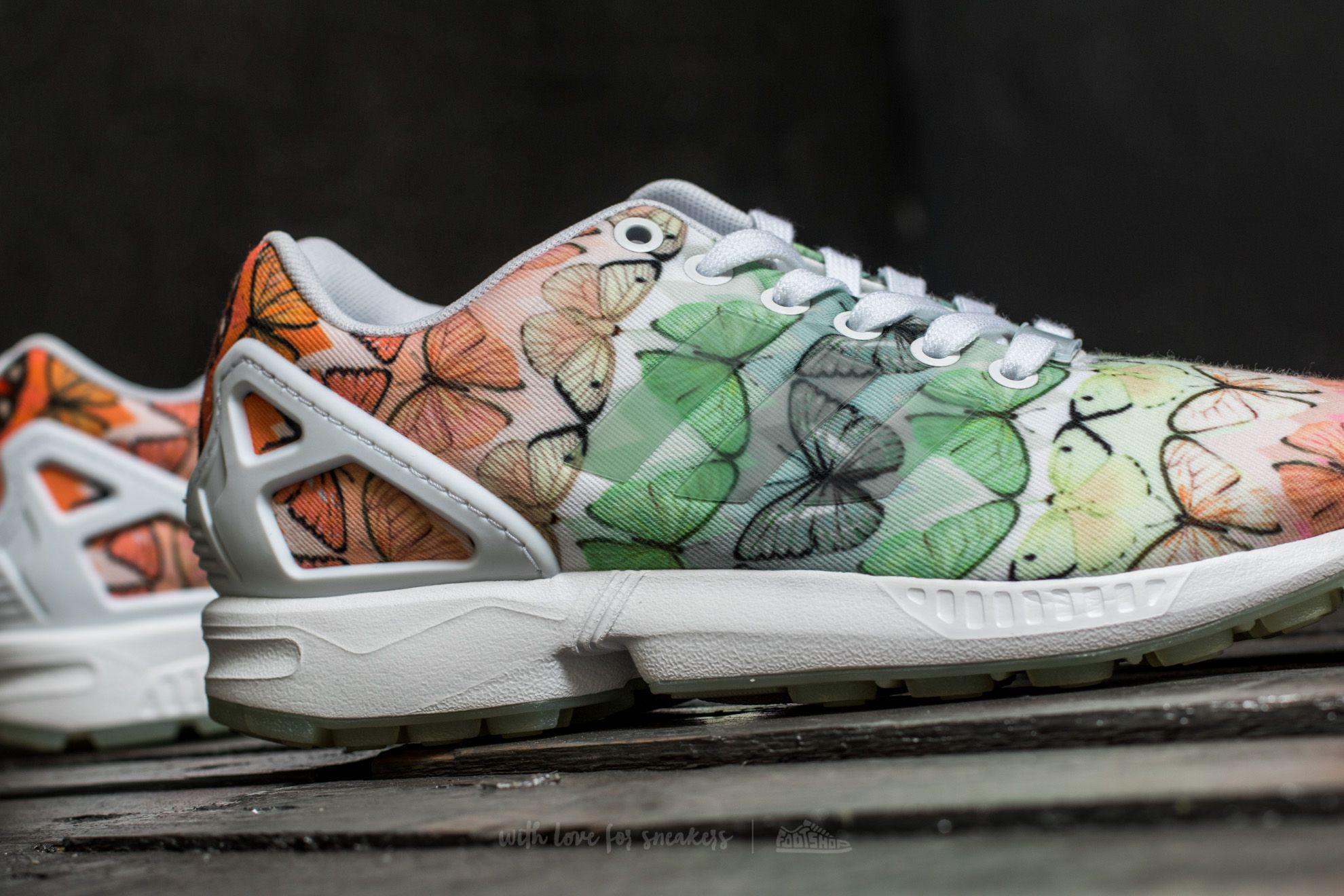 Lyst adidas originali adidas zx flusso w ftw bianco / ftw bianco / lilen
