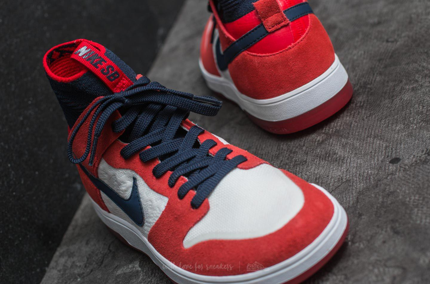 90d7470ac473 Lyst - Nike Sb Zoom Dunk High Elite University Red  College Navy in ...