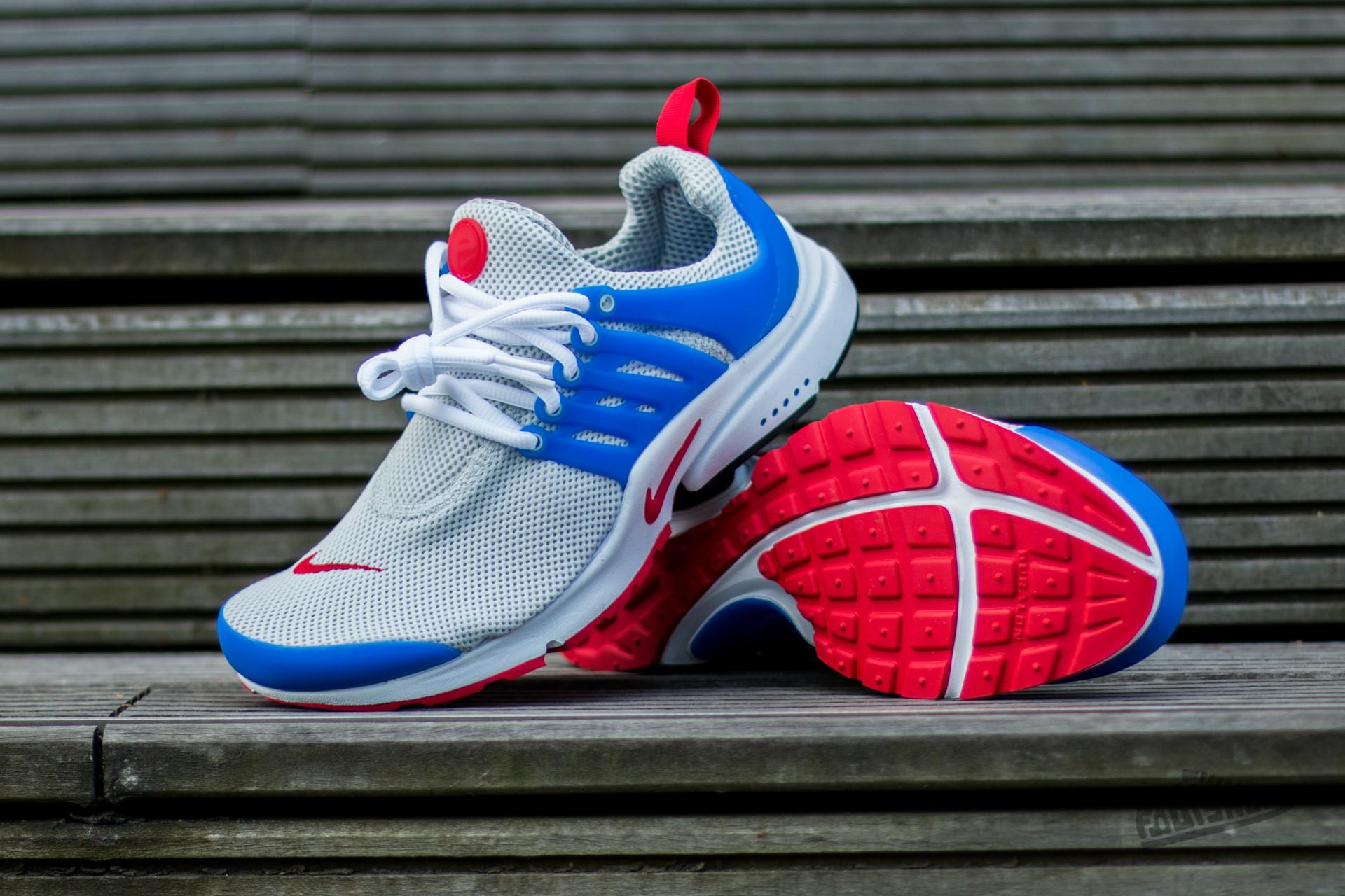4f351abe762f Lyst - Nike Air Presto Essential Dusty Grey  University Red - Hyper ...