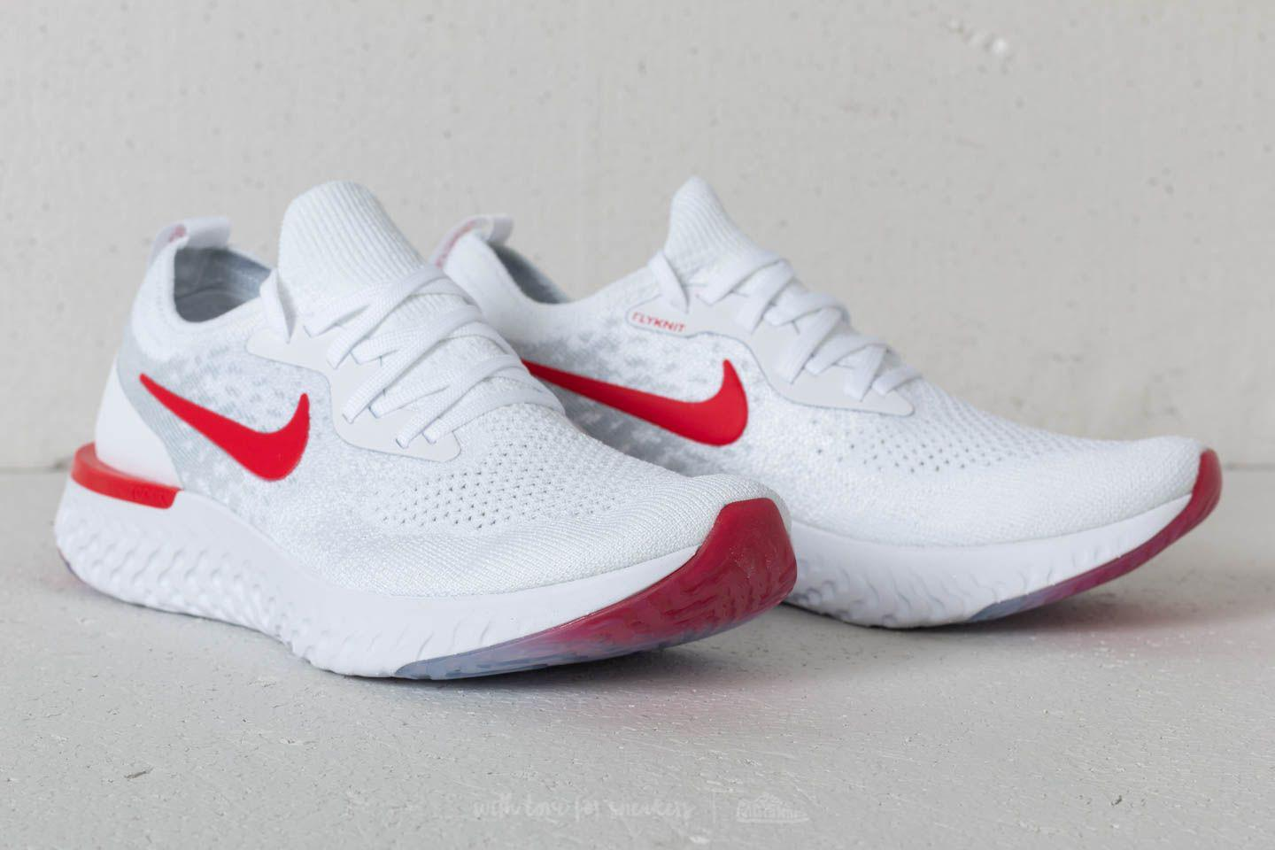 7cad2f8f4b37 Lyst - Nike Epic React Flyknit (gs) White  University Red in White ...