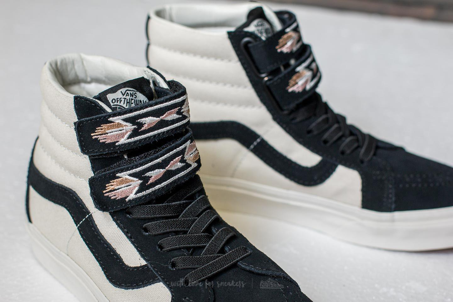 Lyst - Vans Sk8-hi Reissue V (native Embroidery) Black  Marshmallow ... 7315daf00