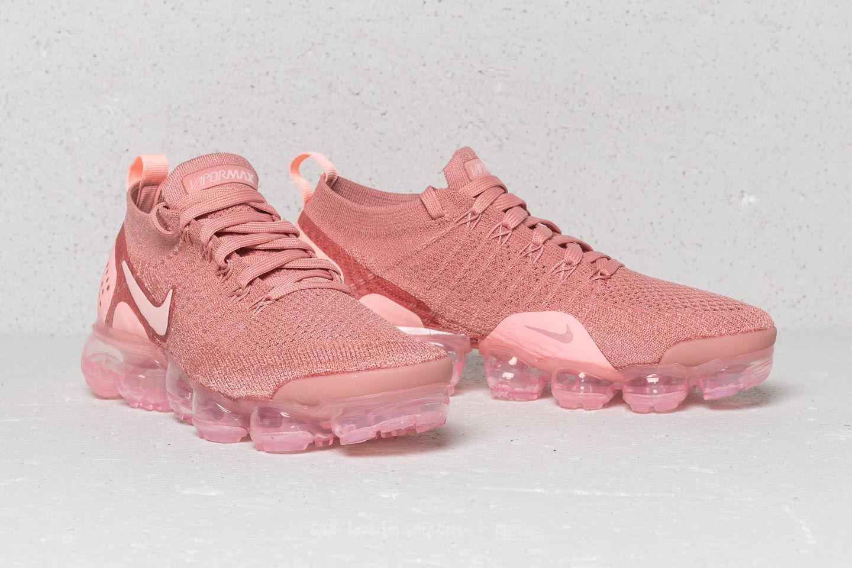 Lyst - Nike Wmns Air Vapormax Flyknit 2 Rust Pink  Storm Pink-pink ... c3b6778ce