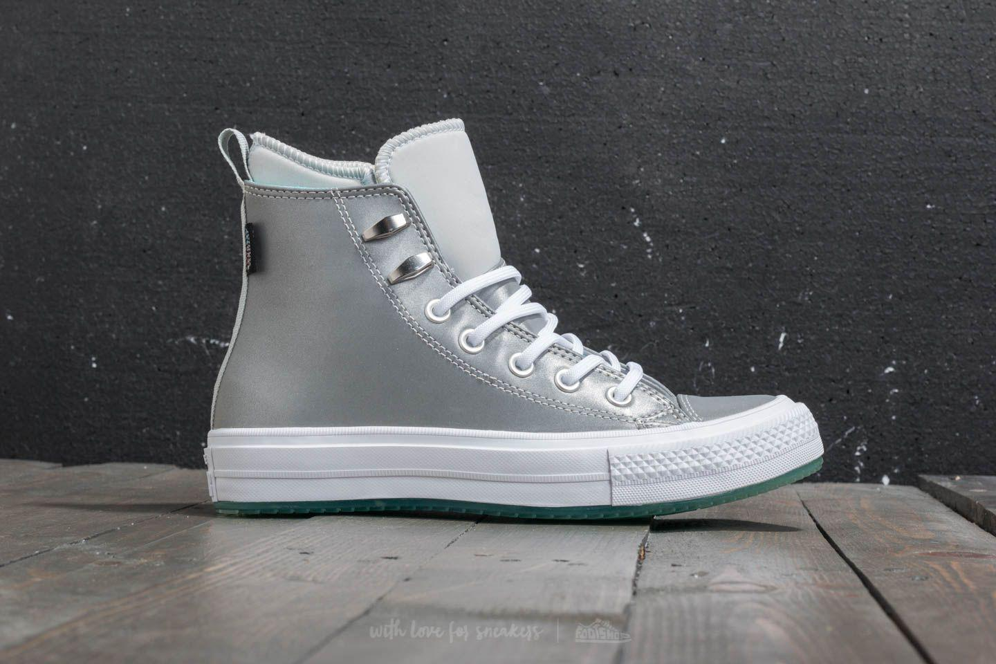 Converse Chuck Taylor All Star Waterproof Boot Hi Pure Platinum/ Light Aqua/ White 152BVp