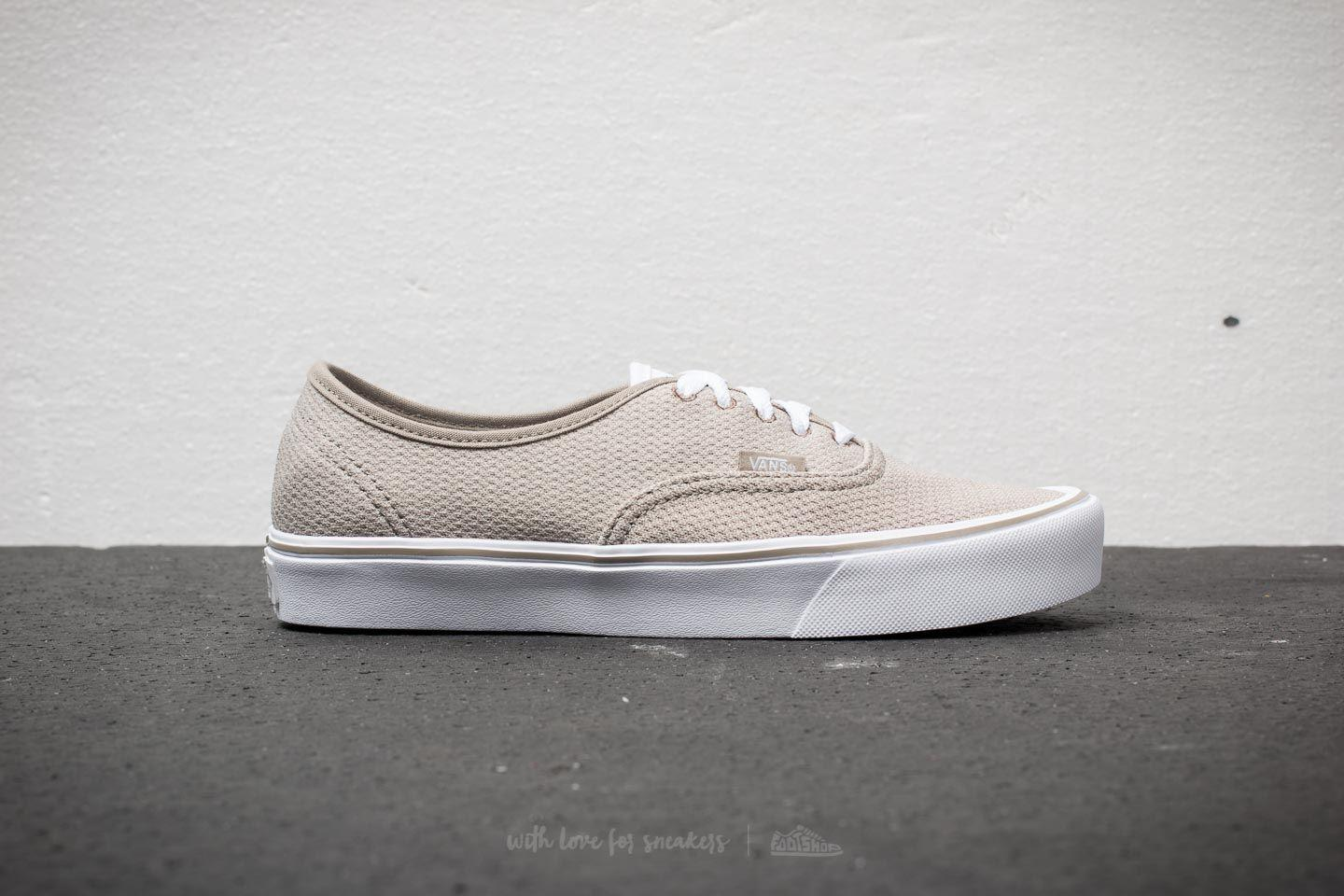 Lyst - Vans Authentic Lite (mesh) Fallen Rock  Silver in Metallic ... 2a8fbdd7a