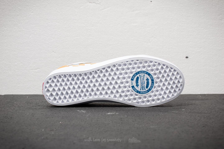 Lyst - Vans Old Skool Lite (suede Canvas) Ochre  True White in White ... 2750fec70