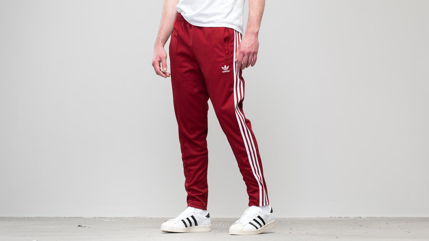 00563d8324335 Lyst - adidas Originals Adidas Beckenbauer Track Pant Rust Red in ...