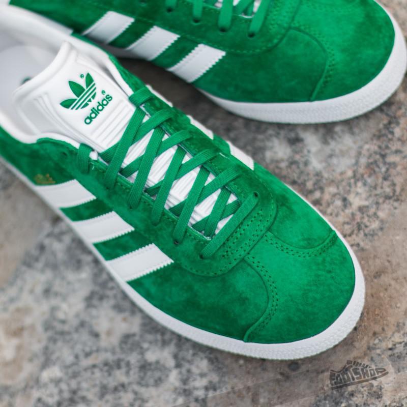 3190e098541e Lyst - Adidas Originals Adidas Gazelle Green  White  Gold Met in ...