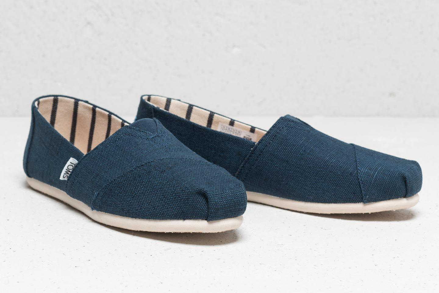 8e64c0f5b2c Lyst - Footshop Toms Wmn Classic Majolica Blue Heritage Canvas in Blue