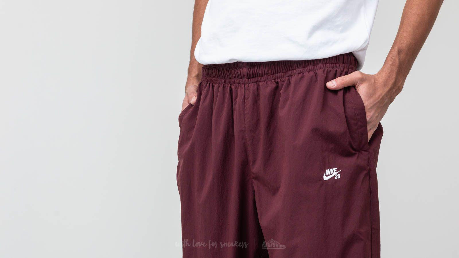 4bfa8d2a84c5 Lyst - Nike Sb Flex Track Pants Bordeaux  White for Men