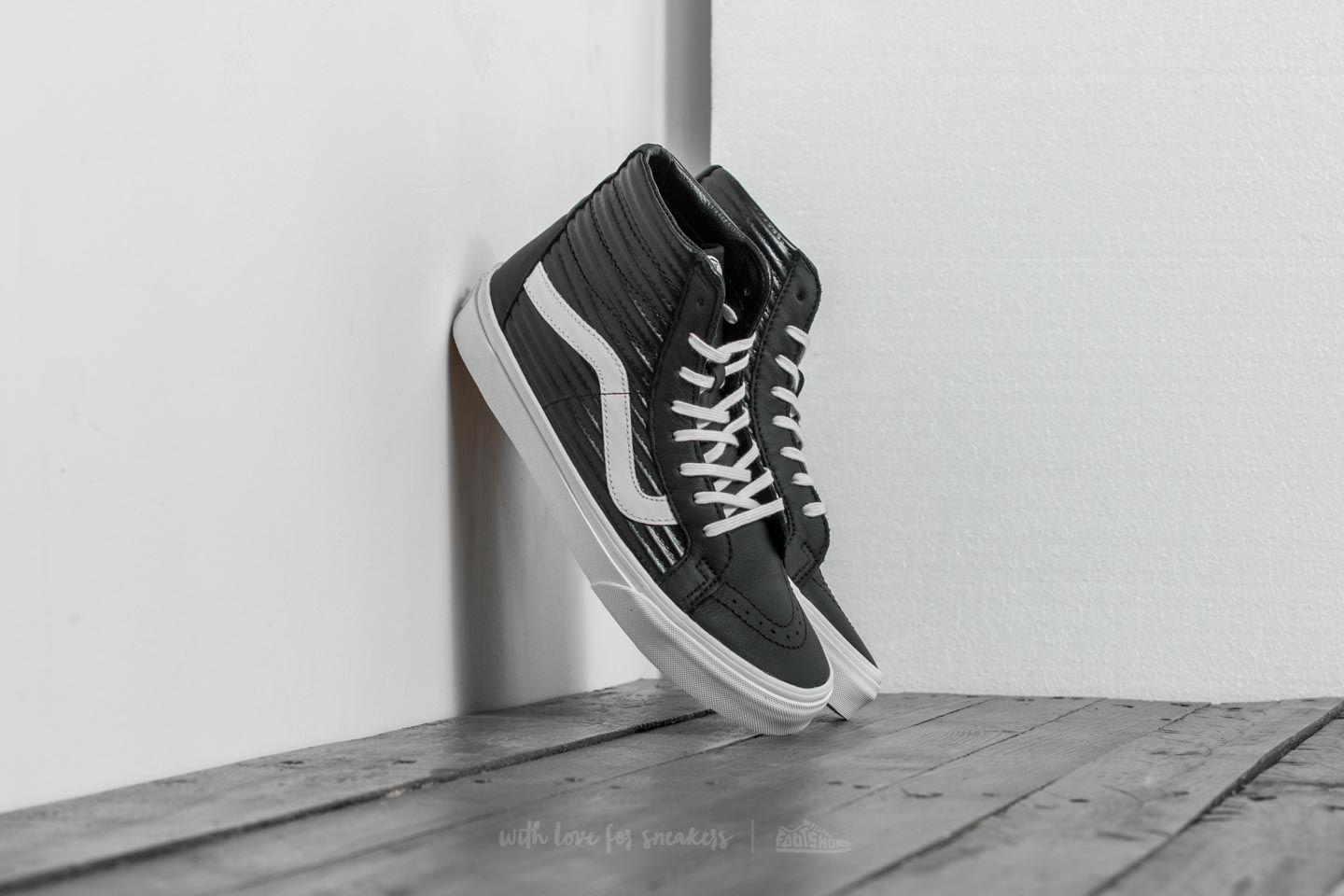 5f9f9bd0f1d7 Lyst - Vans Sk8-hi Reissue (leather  Fleece) Black  True White in ...