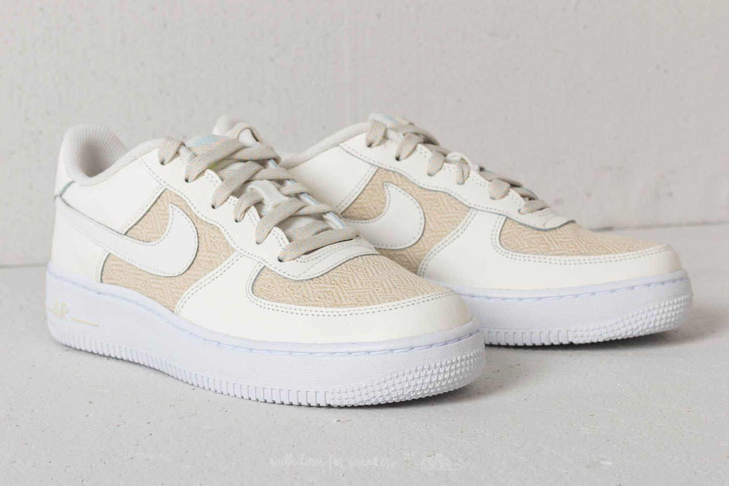 the latest 0a9d4 94e42 Nike Air Force 1 Lv8 (gs) Sail  Sail-fossil-cobalt Tint in White - Lyst