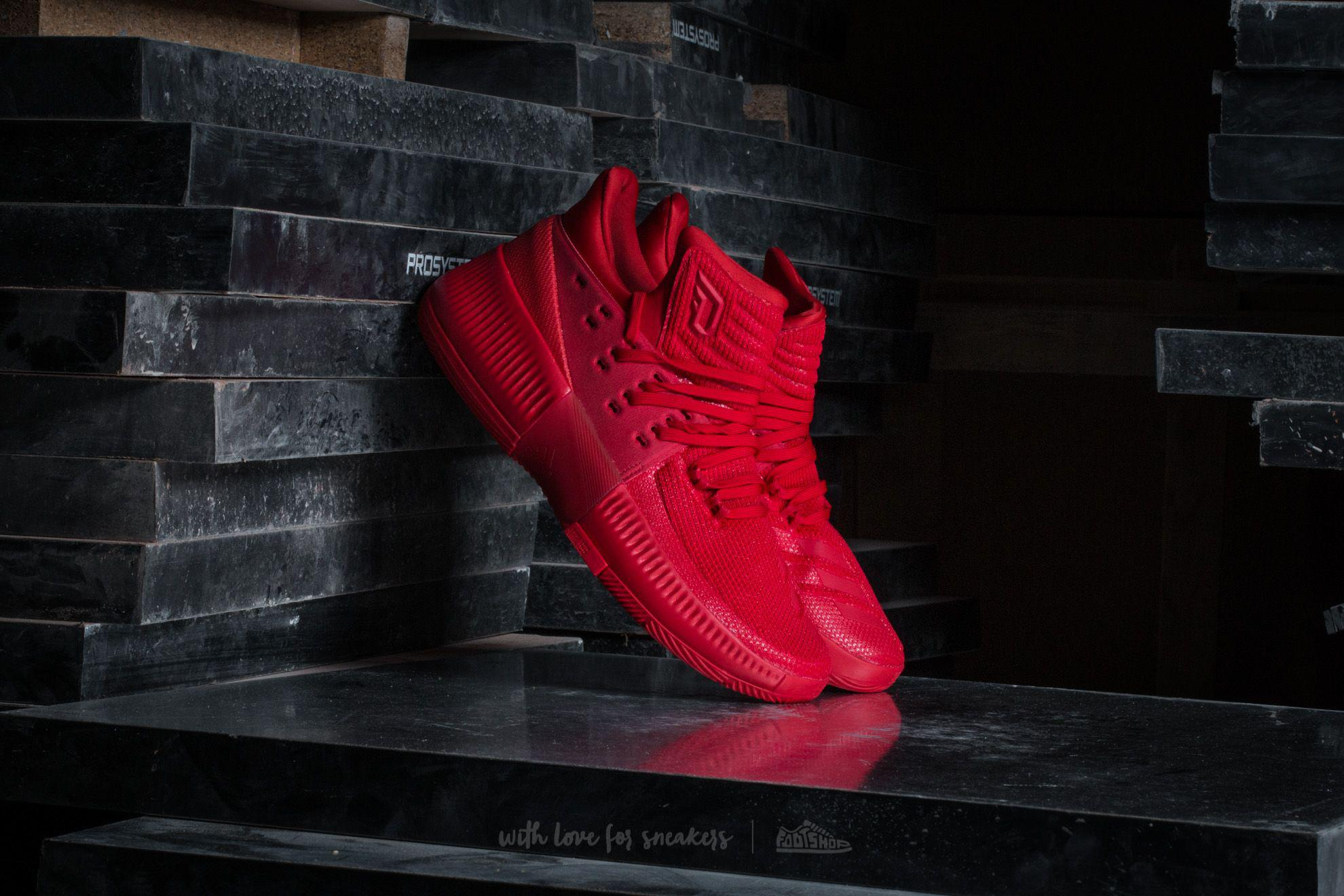 sports shoes b17f5 159c0 Lyst - Adidas Originals Adidas Damian Lillard 3 Scarlet in Red for Men