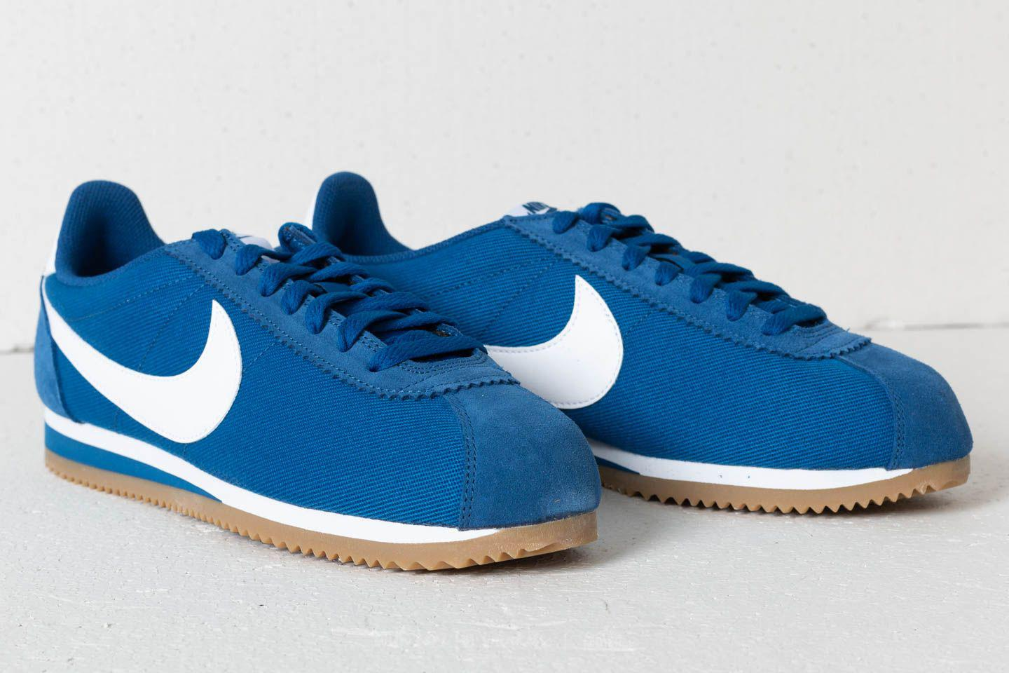601aa764116 Lyst - Nike Classic Cortez Nylon Gym Blue  White-gum Light Brown in ...