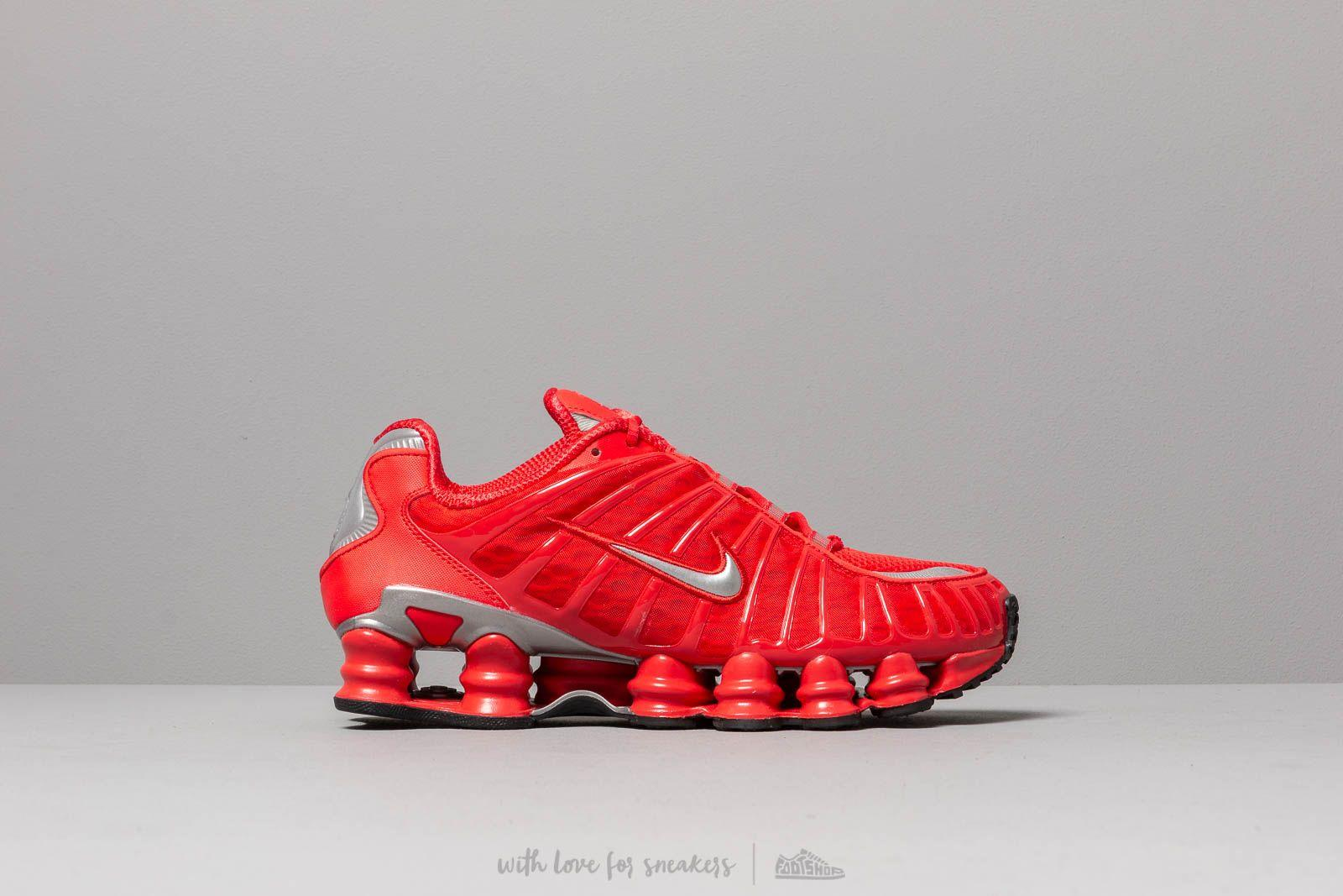 460a9cdb2e60f Nike Shox Tl Speed Red/ Metallic Silver in Red for Men - Lyst