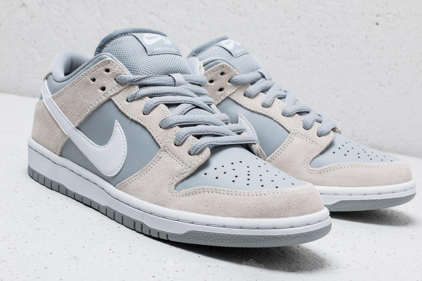 half off 4bc8d 36d67 Nike Sb Dunk Low Trd Summit White  White-wolf Grey in White for Men ...