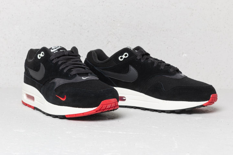 acb1ee3dd2 Nike Air Max 1 Premium Black/ Oil Grey-university Red in Black for ...