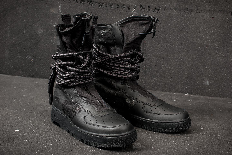 3d7d16dc654f75 Lyst - Nike Sf Air Force 1 Hi Black  Black  Dark Grey in Black for Men