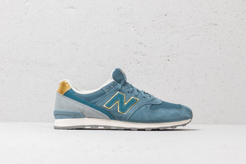 hot sale online 34977 8e1d2 New Balance 996 Blue  Gold  Grey in Blue - Lyst