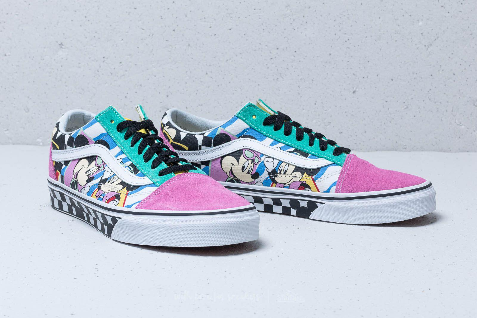 05589bcb51 Lyst - Vans X Disney Mickey Mouse Club Old Skool 80 ́s Mickey  True ...