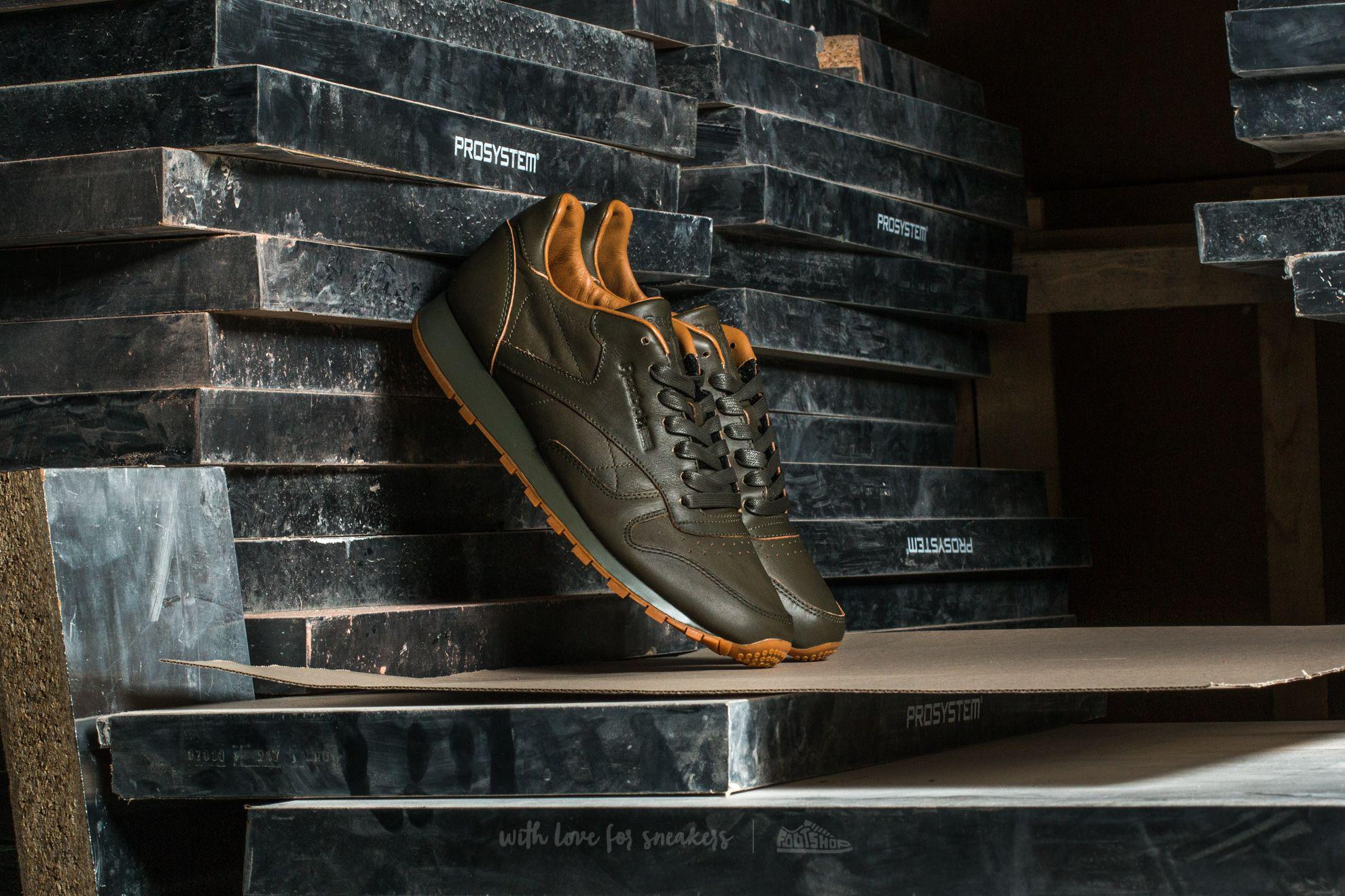 964f2280d083e Lyst - Reebok Classic Leather Lux Kendrick Olive Night-gum for Men