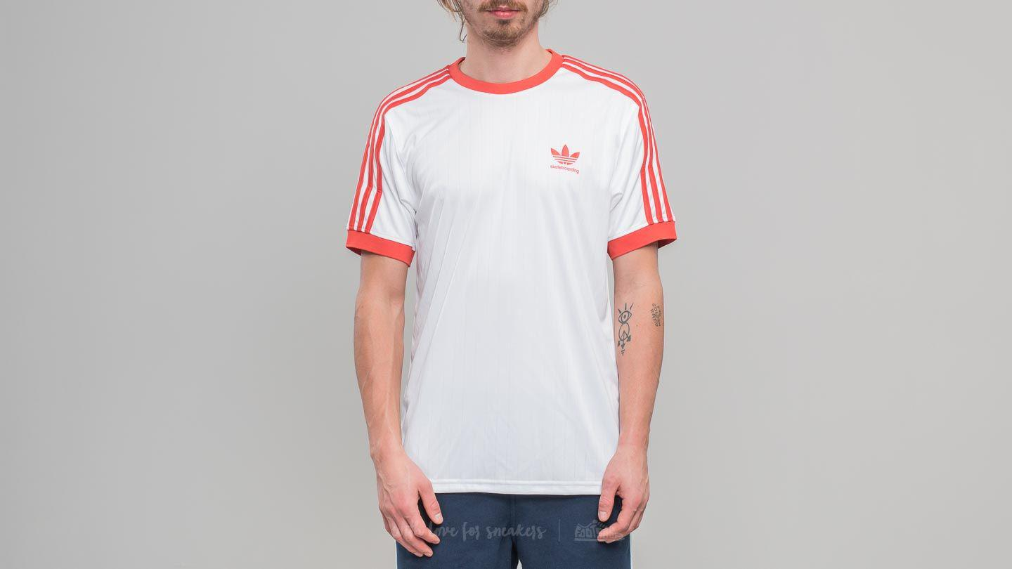 3754614d74670 Lyst - Footshop Adidas Clima Club Jersey White  Trace Scarlet in ...