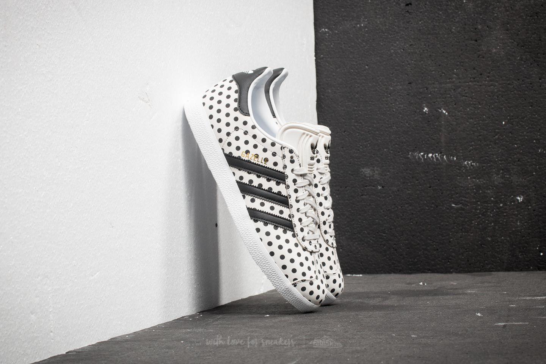 lyst adidas originali adidas gazzella w crystal white / cuore nero
