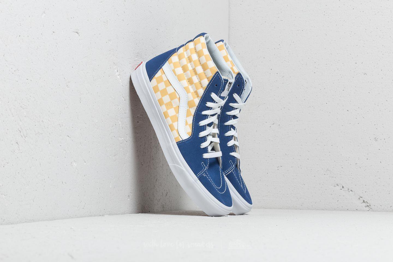 8e28810a38 Lyst - Vans Sk8-hi (bmx Checkerboard) True Blue  Yellow in Blue for Men