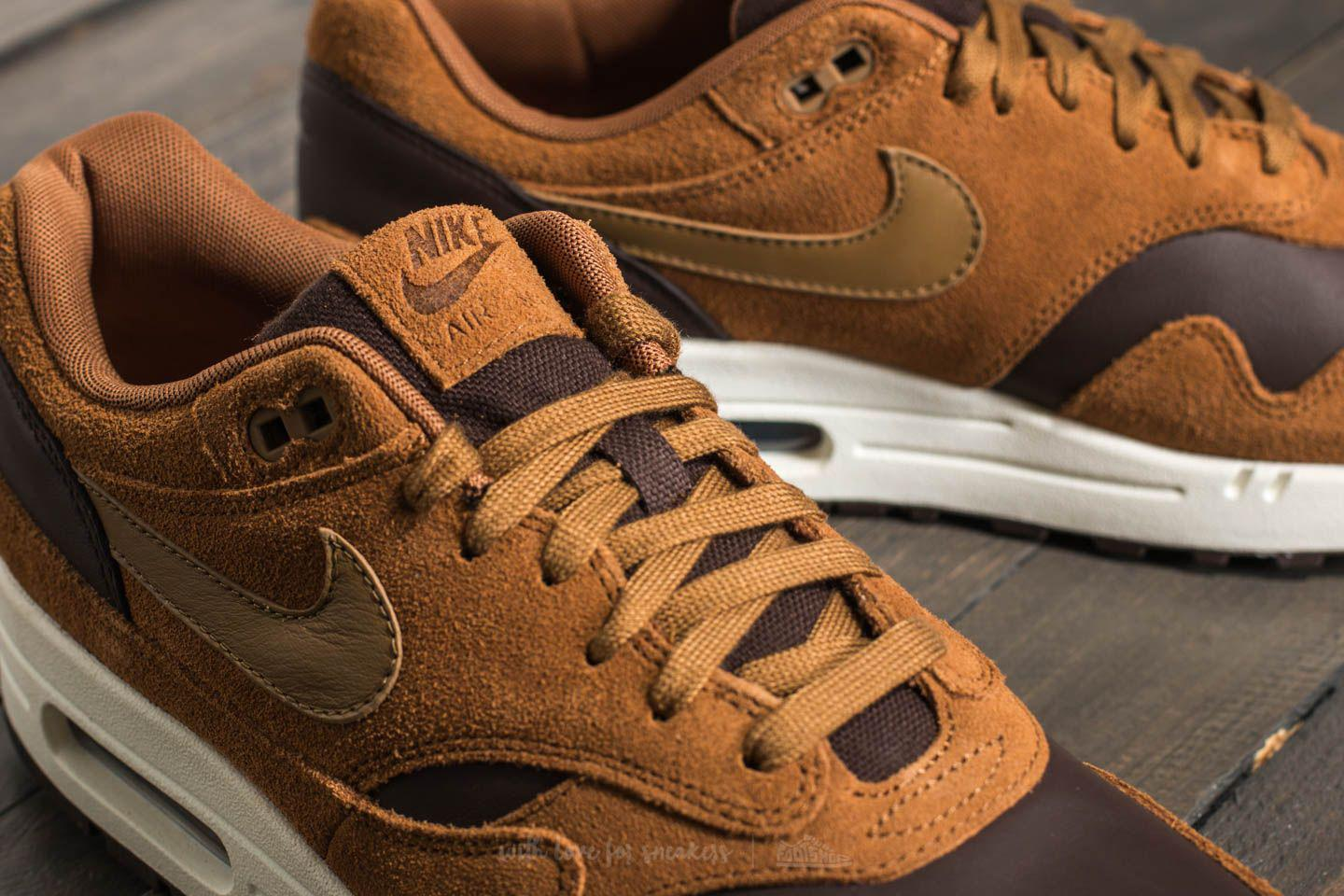 Nike Air Max 1 Premium Leather Ale Brown/ Golde Beige in Brown for ...