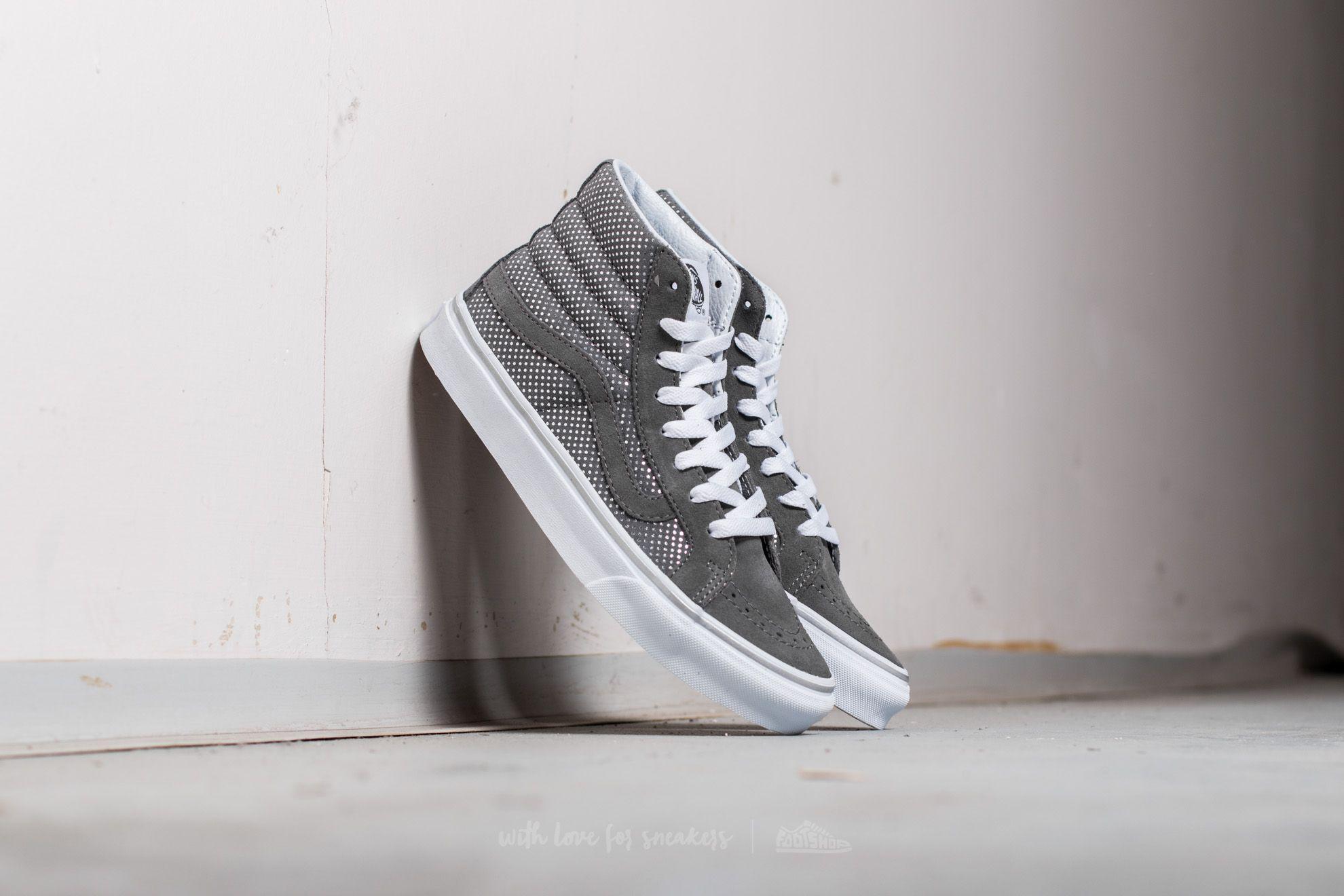 d2a56ab98c Lyst - Vans Sk8-hi Slim (metallic Dots) Dark Grey in Gray