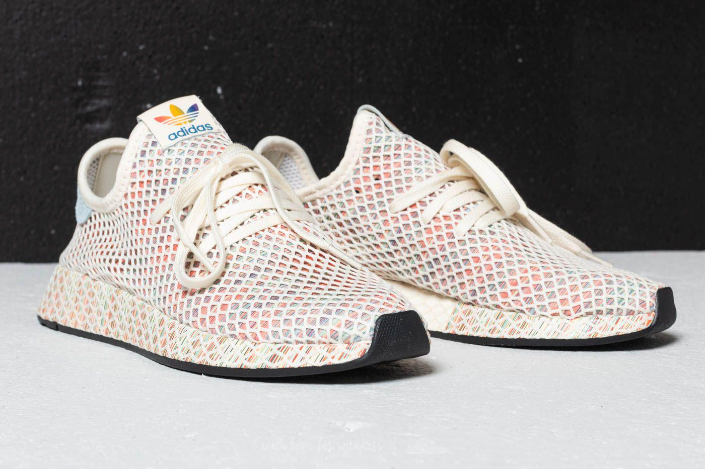24c681e93 Lyst - adidas Originals Adidas Deerupt Pride Cream White  Ash Grey ...