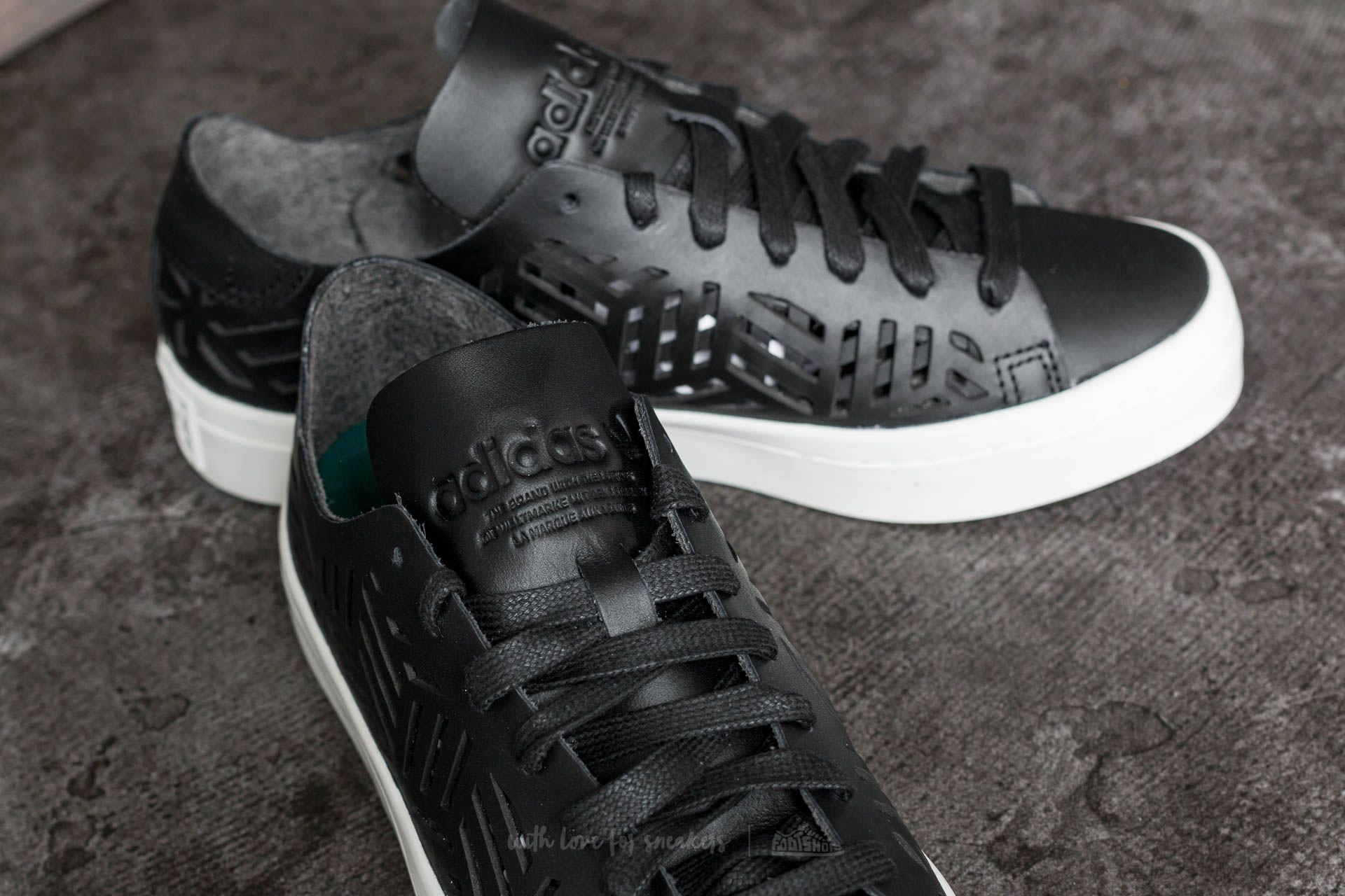 lyst adidas originali adidas courtvantage sagoma w nucleo nero