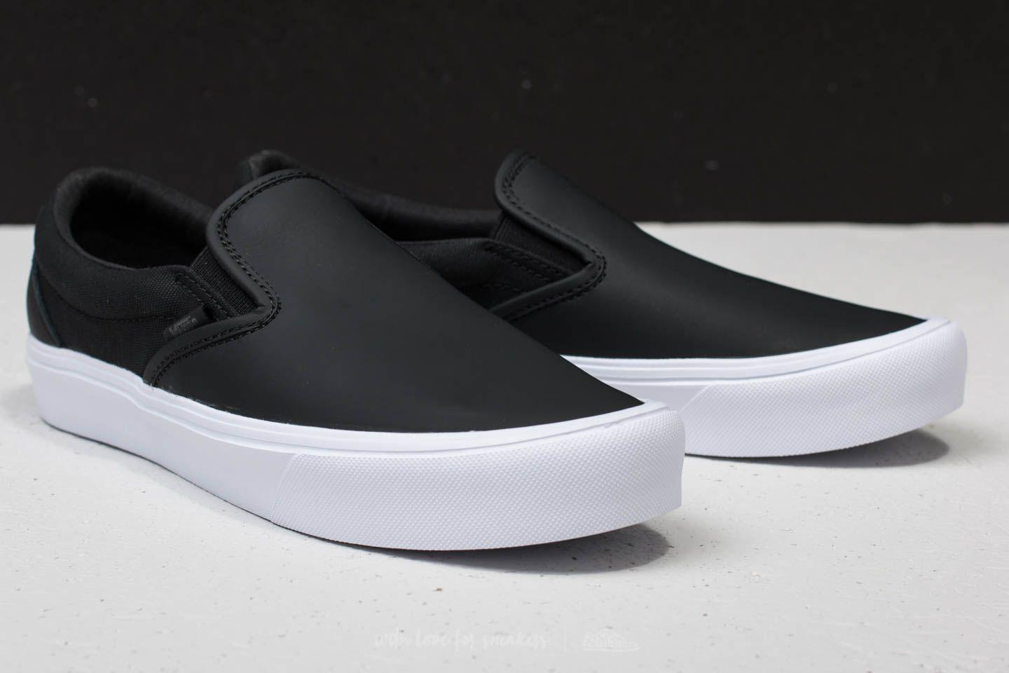 Lyst - Vans Slip-on Lite (rains) Black  True White in Black for Men 7bd61aa38