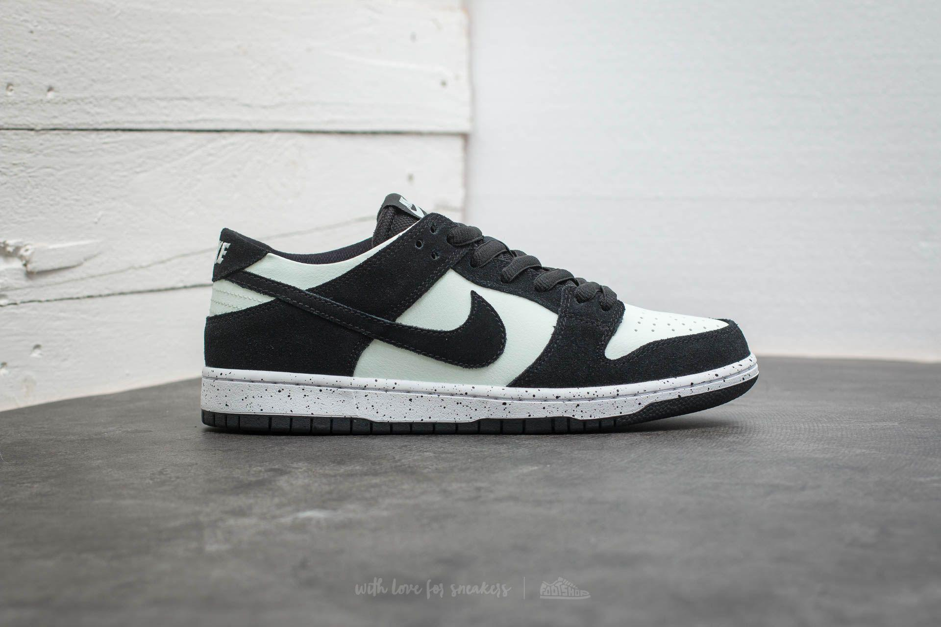 brand new 63e4d 4a483 ... get lyst nike sb zoom dunk low pro black black barely green white in  5008b 28b0e