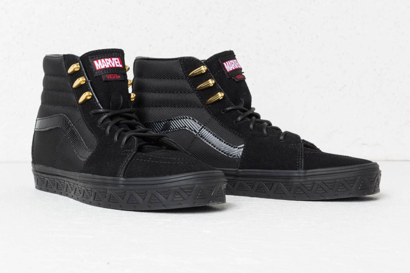 Lyst - Vans Sk8-hi (marvel) Black Panther  Black in Black for Men 79ffc0b31