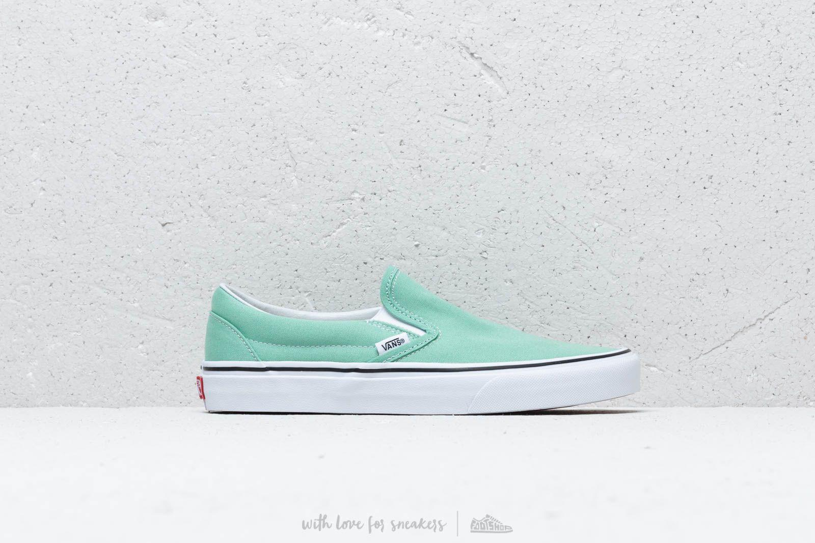 987c601ce15c Vans - Classic Slip-on Neptune Green  True White for Men - Lyst. View  fullscreen