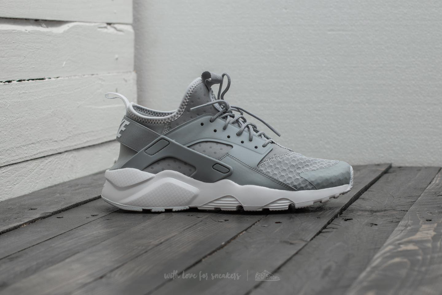 d8609949a73a ... best price lyst nike air huarache run ultra wolf grey pale grey white  in gray 775a2