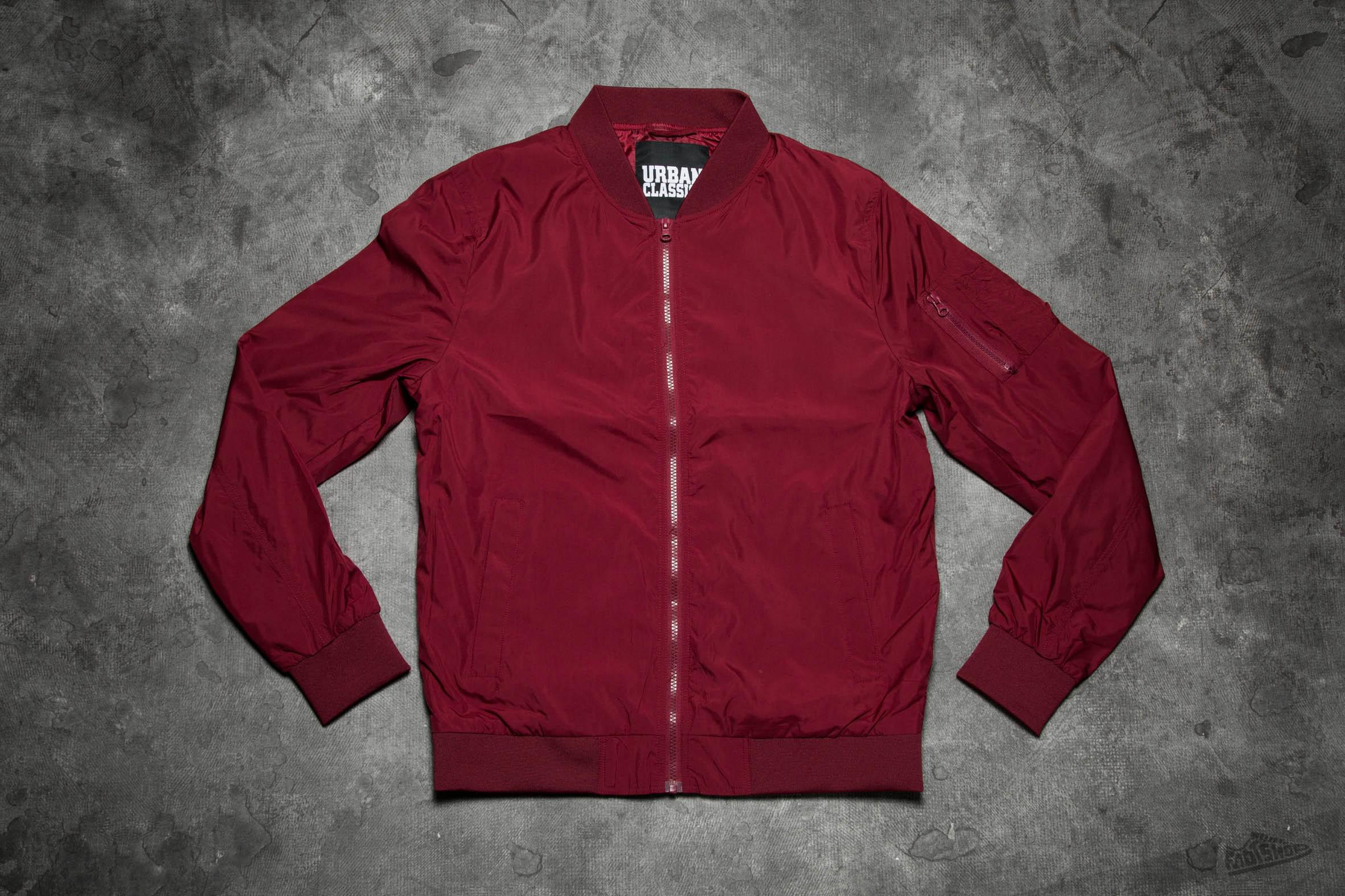 1d183e9f Lyst - Footshop Urban Classics Light Bomber Jacket Burgundy in Red ...