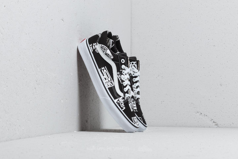 9d8a7f31fdcd Lyst - Vans Old Skool (logo Mix) Black  True White for Men