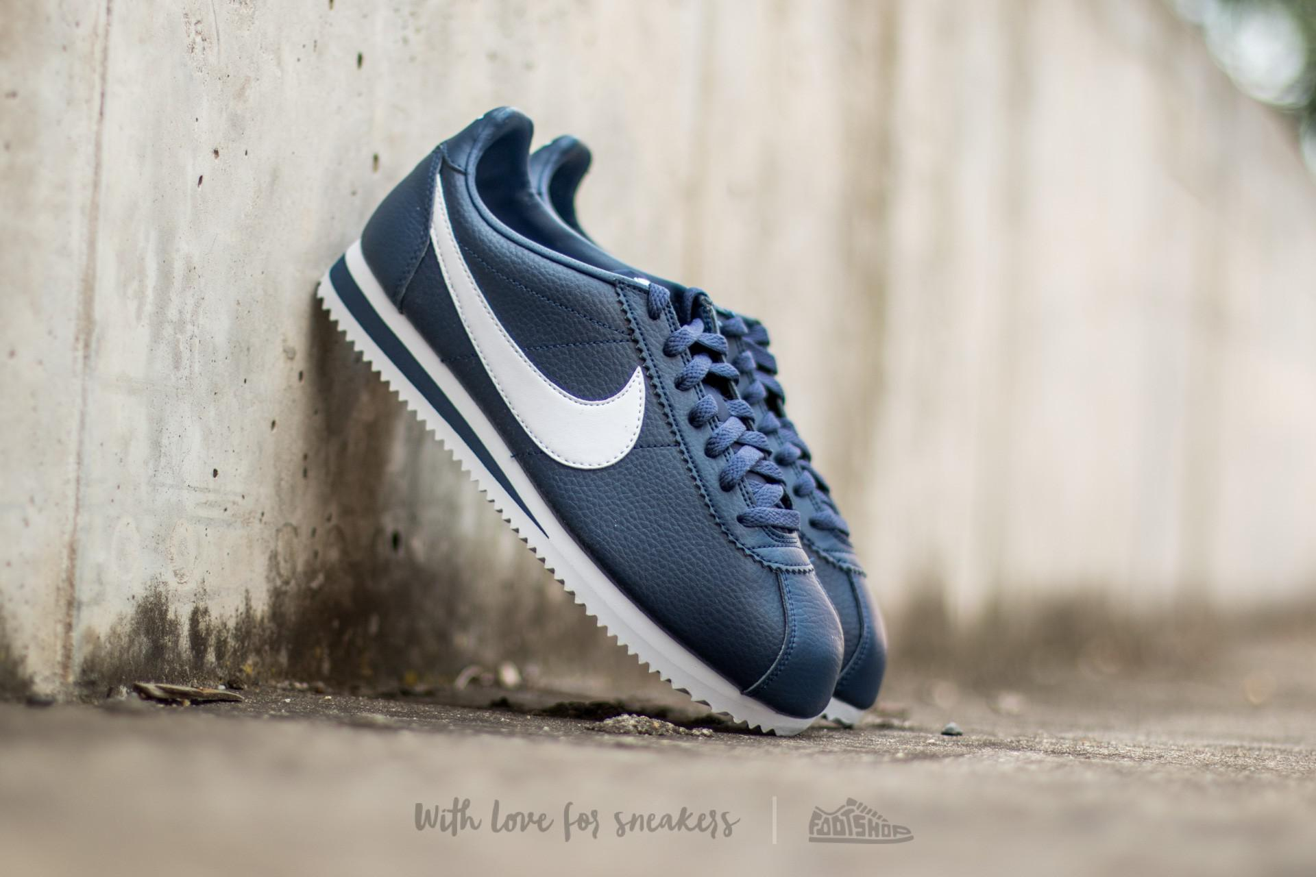 cheap for discount e7125 c7524 ... inexpensive lyst nike classic cortez leather midnight navy white in  blue for men e3b00 dca46