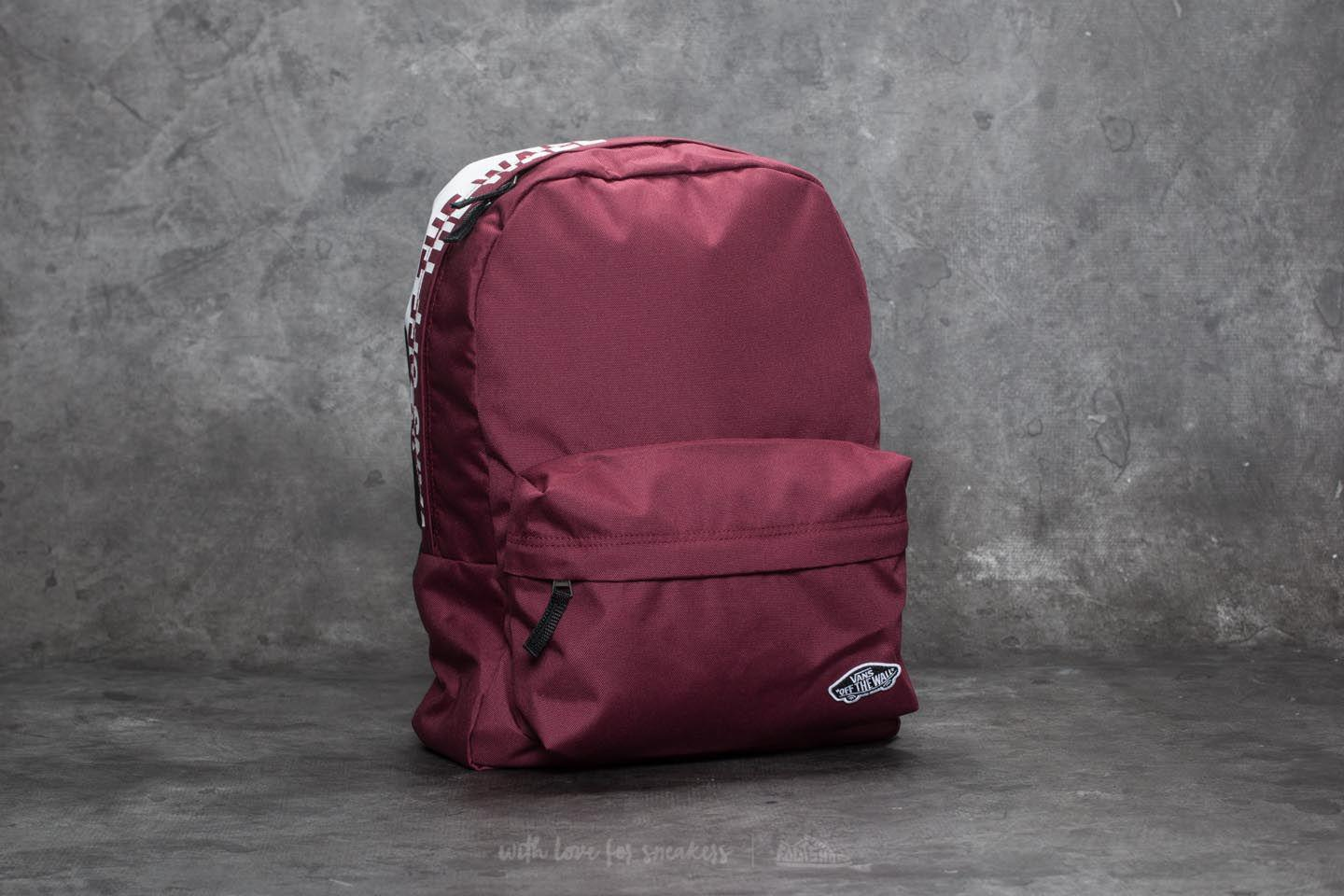 b8f47e26b8a Lyst - Vans Sporty Realm Backpack Burgundy