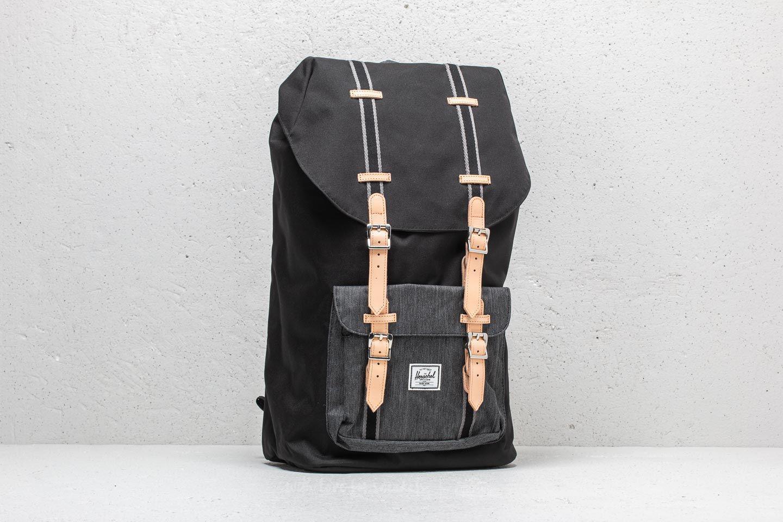 ddbdcaac08 Lyst - Herschel Supply Co. Little America Backpack Black  Black ...