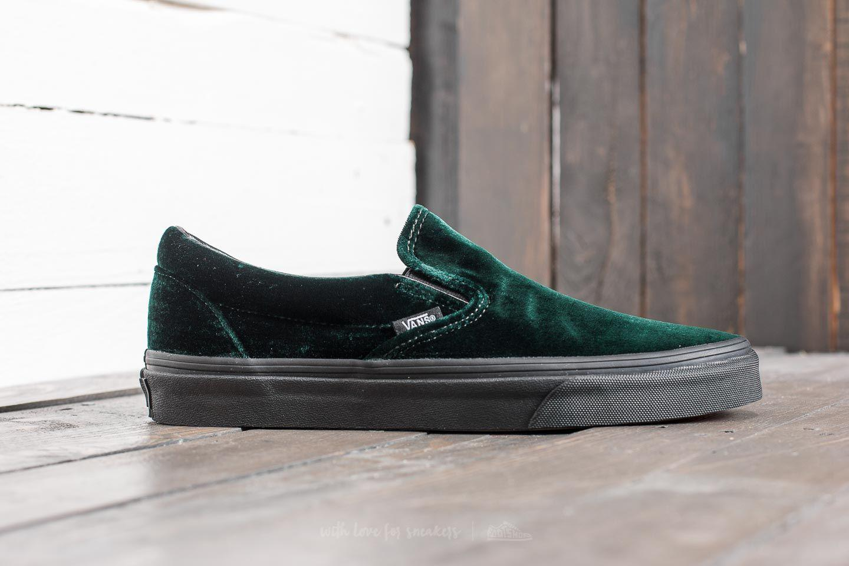 27f6b19dec12 Lyst - Vans Classic Slip-on (velvet) Green  Black for Men