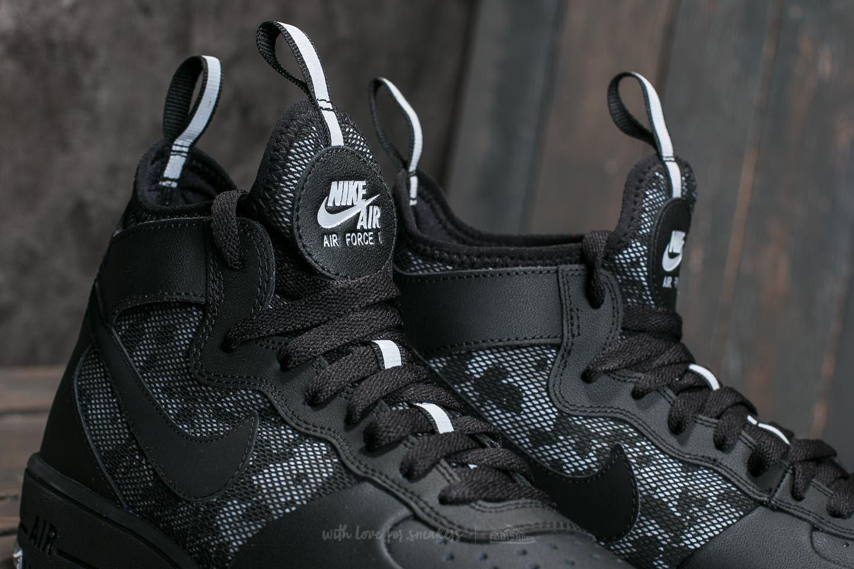 Nike Leather Air Force 1 Ultraforce Mid Black Black wolf