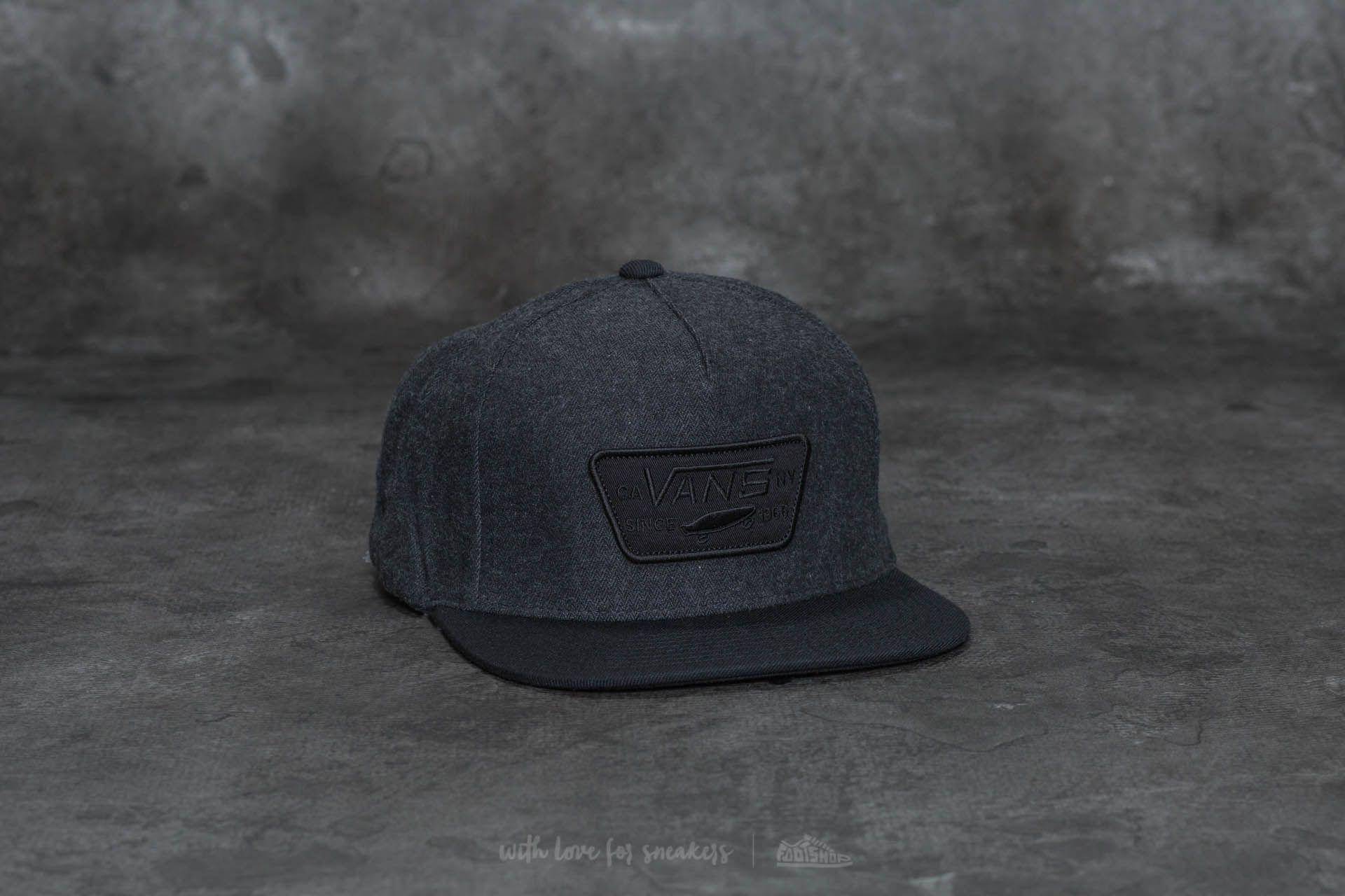 b61d830dd8ae6 Lyst - Vans Full Patch Snapback Asphalt-black in Black for Men