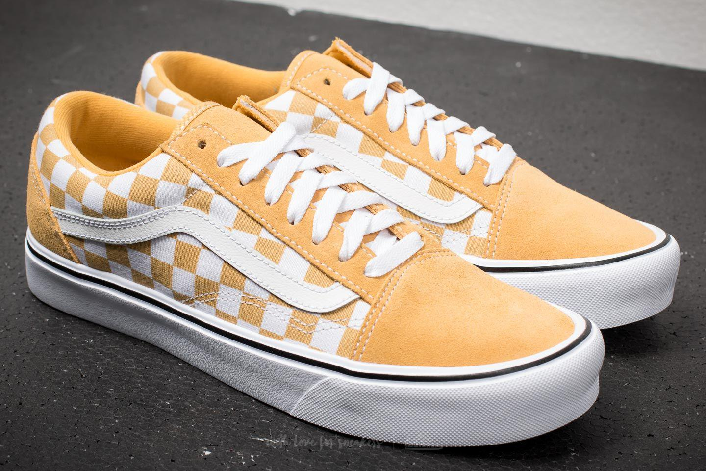 6080ed15e984e8 Lyst - Vans Old Skool Lite (suede Canvas) Ochre  True White in White ...