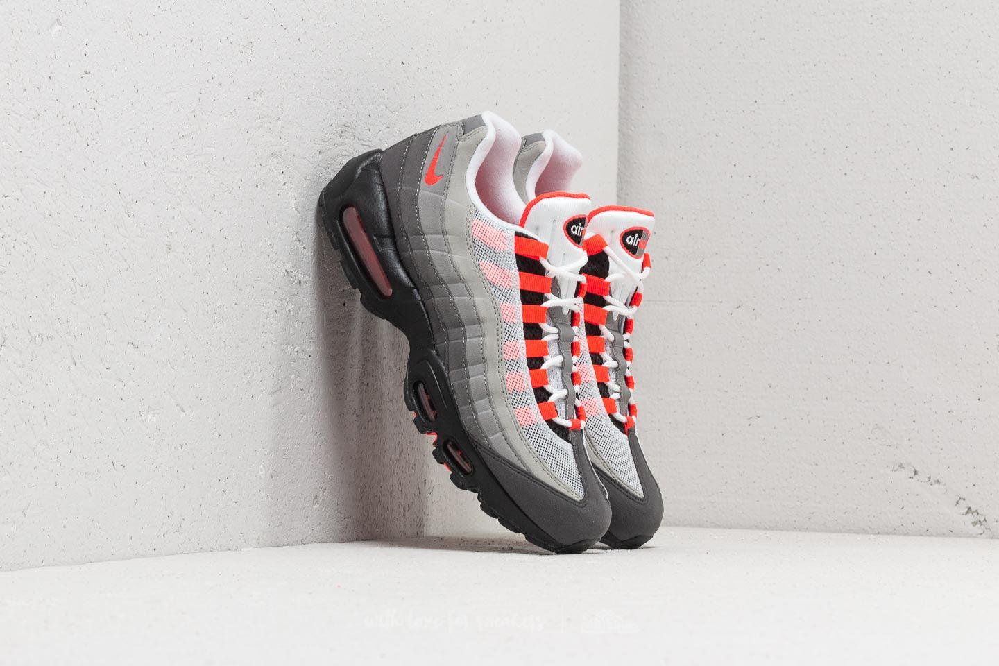 Nike. Men's Air Max 95 Og White/ Solar Red-granite-dust