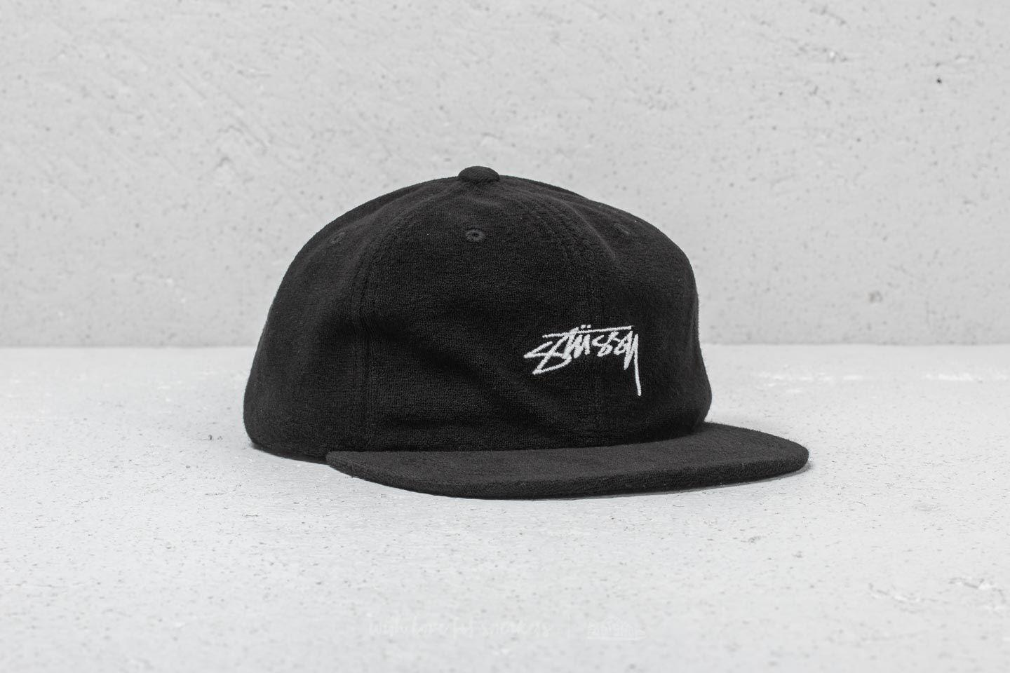 19a8520e8ee Lyst - Stussy Terry Cloth Cap Black in Black for Men