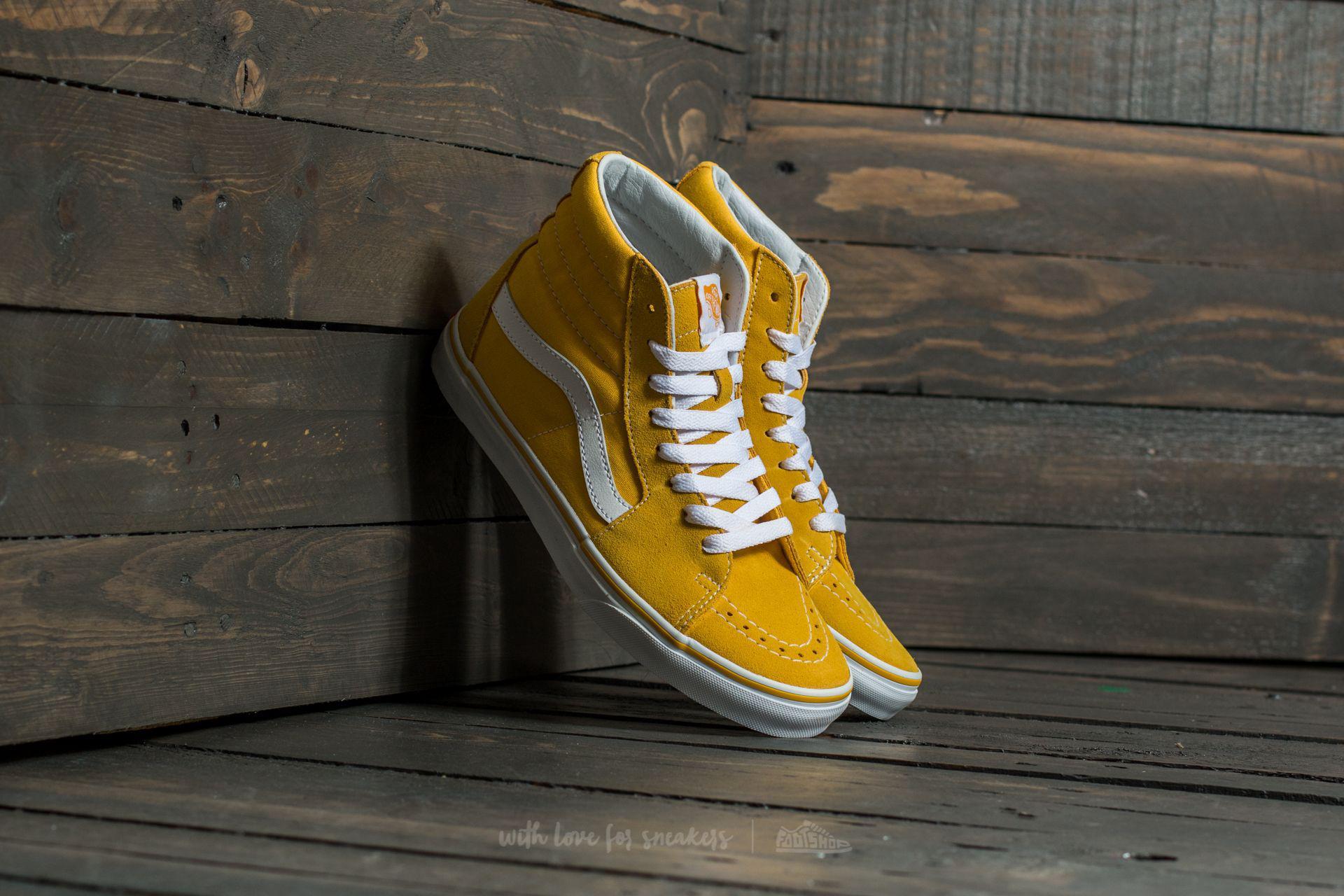 Lyst - Vans Sk8-hi (suede canvas) Spectra Yellow  True White in ... 056978d8d