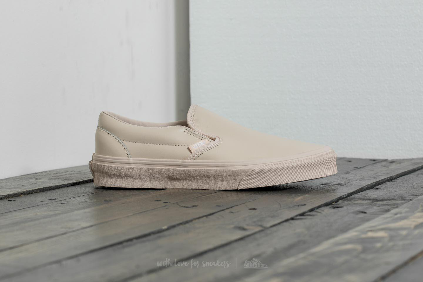 2e940bc405 Lyst - Vans Classic Slip on D (leather) Whisper Pink  Mono